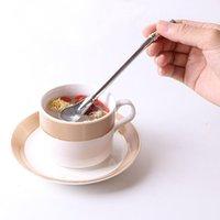 Drinking Straws Straw Spoon Washable Bar Yerba Mate Tea Bombilla Gourd Reusable Tools Stainless Steel Teaspoon