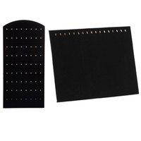 Ювелирные мешки, сумки мода пластиковые дисплейные ушные серьги держатель черного 17 крючка ожерелье поднос органайзер