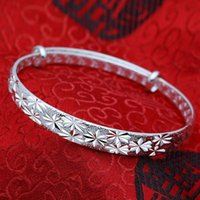 Fashion Women Lady Jewelry Bangle Chain Bracelet Solid Silver Crystal Cuff Charm Bracelets Gift 2021