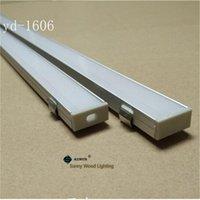 2-30 teile / los 20Inch 0,5m LED-Profil für doppelreizende 16mm breite Streifen, Aluminiumgehäuse mit Deckel Dual Tape Bar Lichtkanalstreifen
