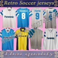 الرجعية أولمبيك دي مرسيليا 1992/93 كرة القدم الفانيلة فوتبول مايلوت خمر كيت كرة القدم camiseta قميص كلاسيكي