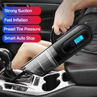 Aspirapolvere portatile portatile 4 in 1 Auto con manometro per pneumatici digitali LED Illuminazione a LED Auto Pump Air Compressor