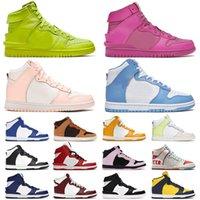 36-46 Ambush x Dunk High Man Woman Designer Shoes Mens Womens University Blue UNC Crimson Tint Lemon Twist Black White Sports Sneakers Trainers Casual Big Size Us 12