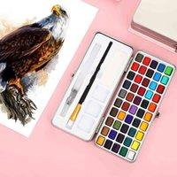 Jianwu Art5 Caja de acuarela sólida de 50 colores de alta calidad de 50 colores Pintura portátil Pintura de aceite Pintura artística Suministros de pintura