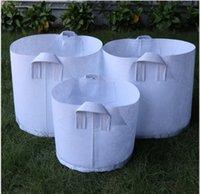 10 taglie Opzione Pentole non tessute Tessuto riutilizzabile Soft-Lay-Lay-Lay-Respirante Grow Bag Grow Piantatura con manici Grande fioriera