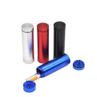 알루미늄 합금 흡연 분쇄기 4 층 금속 그라인더 직경 32mm 분무기 손 담배 크러셔 미니 밀 연기