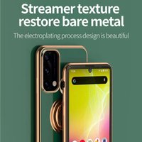 Laser Carving 6D magne electroplated phone cases ring holder stand soft silicone case for Oppo Reno 5 Reno6 PRO ViVo X60 x50 pro x30 Magnetic Car mount Kickstand