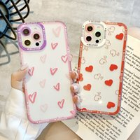 Cute red little love heart phone cases for iphone13 pro max 12 11 X XR XS 7 8 plus case cover