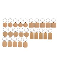 Hooks & Rails 25Pieces Blank Wooden Key Chain Diy Wood Keychain Rings Tags Jewelry Findings Craft