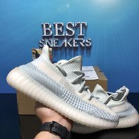 Top Qualité Kanye Running Shoes Sneakers Cendois Bleu Cender Cender ASriel Queue Noir Black Statique Reflective Zebra Israfil Oreo Draps Entraîneur avec boîte