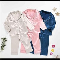Sets Baby Clothing Baby, Kids & Maternity Drop Delivery 2021 Three Color Optional Home Wear Cotton Pajamas Childrens Suitb1R4 Cup3I