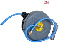 8-10M Water And Air Mixing Double Pipe Drum Winding Device Automotive Hose Reel, Automatic Retractable Winder P Car Washer