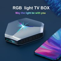 A95X F4 TV Box Android 11.0 Amlogic S905X4 4GB 32GB / 64GB / 128GB ROM 2.4G 5G WIFI 2T2R Bluetooth 8K تعيين أعلى الصناديق