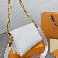 2021 المصممين Luxuryers Crossbody سلسلة حقيبة الكتف كوك كوس حقائب الأزياء للأمام النساء أكياس رسالة أعلى جودة محفظة محفظة