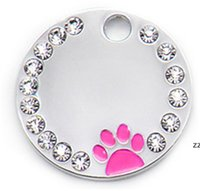 Anti-Lost-Welpen-Hund-ID-Tag-personalisierte Hunde-Katzen-Name-Tags-Halsband-Halsketten Gravierte Haustier-Namensschild-Zubehör HWE7305