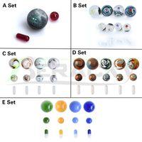 Beracky 5 Arten Glas Rauchen Terpen Slurper Perlen Set mit Rubin-Quarz Pille Murmeln Sets für Slurpers Banger Nails Water Bongs DAB Rigs