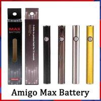 100% Original Amigo MAX Vorwärm Batterie 380mAh Variable Spannung VV Bottom Ladung 510 für Freiheit V9 Dicke Ölkassettenbehälter VS VMOD