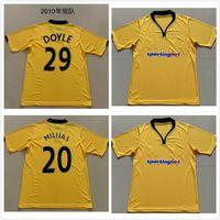 2009 Wolves Doyle Retro Soccer Jerseys Home 2010 Vintage Milijas Berra Henry Ebanks-Blake Kightly Camisas de futebol clássico
