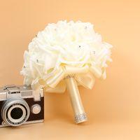 Gelin Düğün Buket Köpük Yapay El Yapımı Çiçek Hediye Yapay Çiçekler El Buketi Gül Gelin Düğün Malzemeleri 2129 V2