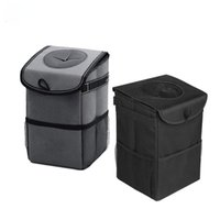 Waterproof Folding Trash Can Black Gray Car Seat Back Organizers Backseat Storage Bag Other Interior Accessories