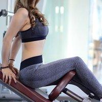 Leggings costume printemps et automne course de fitness vêtements show fine féminin gym pants de yoga sans soudure capris