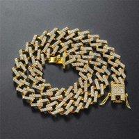 Hip Hop Hyperbole Cuban Chain Necklaces For Women Men Couples Jewelry Vintage Fashion Rose Gold Silver Color Engagement Necklace Chains