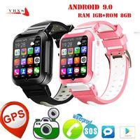 Android 9 Smart 4G Remote Camera GPS WiFi Kid Student Men Wristwatch Видеозвонок Монитор Trace Местоположение Google Play Phone Watch