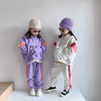 Baby Cotton Sweatshirt Clothing Sets Kids Boys Girls Autumn Loose Tracksuit Pullovers Tops Pants 2pcs Suit Toddler Child Clothes Outfit