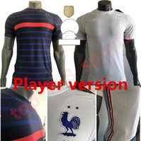 플레이어 버전 프랑스 2021 국가 대표팀 축구 유니폼 MBappe Griezmann Hernandez Varane Giroud Thauvin Kante Pogba Benzema 프랑스 축구 셔츠
