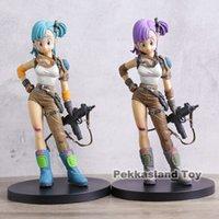 Bulma Young Ver. 1 8 Scale Blue & Purple Hair Buruma Pvc Figure Toys Brinquedos Anime