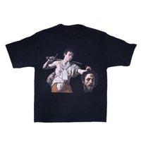 20sS Westside Gunn Beten Sie für Paris Pyrex Vision T-shirt Hip Hop Mode Collaboration Black Casual T-Shirt Männer Frauen T-Stück Tops Streetwear