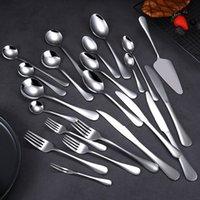 1010 посуда из нержавеющей стали Hotel Hotel Нож вилкой набор титановые покрытые титановым покрытием кофе ложка стейка ножа0SI