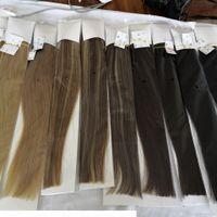 Eliber Cabelo - CLIP Nos Cabelos 100% Remy Human Hair 7 Pcs Set 70grams Piano Color Clip Nas Extensões De Cabelo