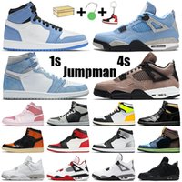jumpman 1 남성용 농구화 1s high OG Dark Mocha Volt Gold Chicago bred 4s Fire Red Black Cat 여성용 스니커즈 스포츠 스니커즈
