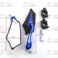 Motorcycle Mirrors Blue Available Mirror Motorbike Rearview Motocross Side ATV Off-road Moto Dirt Pit Bike