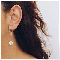 earrings Fashion pearl flower C-type Earrings court style female 1220