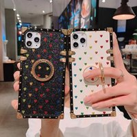 Luxury Leather Phone cases for iPhone 13 12 11 Pro X XS Max XR 8 7 Cover Samsung Galaxy S21 S20 S10 Note 20 10 ring bracket Glitter powder case