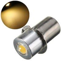 ضوء الخرز LED لمبة P13.5S PR2 1W 90 التجويف الدافئة النقي الأبيض ل داخلي دراجة الشعلة بقعة مصباح أضواء العمل DC18 / DC3 18V