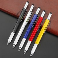 6 in 1 Multi Tech Werkzeug Kugelschreiber Gadget Schraubendreher Stifte mit Lineal, Levelgauge, Stylus für Männer Kinder DBGE