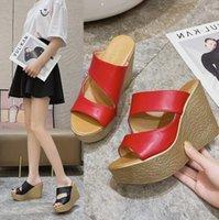 Dress Shoes 2021 Summer Super High Heel Women'S Slippers Platform Sandals Waterproof Outer Wear Wedge
