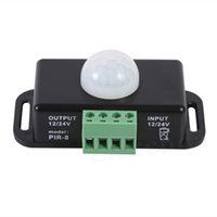 DC 12V 24V 8A Automatic Adjustable PIR Motion Sensor Switch IR Infrared Detector Lights Switches Module for LED Strip Lighting Lamp