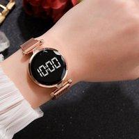 Wristwatches Fashion Luxury LED Women Magnetic Bracelet Watches Digital Dress Watch Quartz Wristwatch Ladies Clock Relogio Femenino