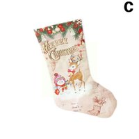 Christmas Decorations Sock Large Stocking Year Gift Candy Burlap Cloth Holder Bag Z3S0