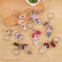 Cartoon Keychain 2021 Korean Bts-077 Silicone Portrait Men and Women Fashion Accessories Mobile Phone Bag Pendant Holiday Gifts