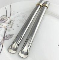 Vente en gros Yerba Mate Bombille Spions en acier inoxydable réutilisable pour gourde / tasse de thé DHE5707