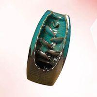 العطر مصابيح 1 قطعة السيراميك إناء انحار البخور الموقد الإبداعي فرن الفرن الحلي ل ديكور مكتب المنزل (الأزرق)