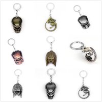 14 Arrival Chain Style Keychain AVP Alien Key 3D Simulation New Mask Metal Pendant Ring Fans For Xiodu