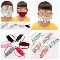 with in  2 1 Kids Visible Mask Transparent Eye Dustproof Washable Full Protective Face Shield Designer Masks Rra3363 HP2H