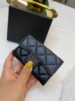 5A Designer Luxus High Qulity Klassische Kurzwallet Mode Frauen Münze Geldbörse Reißverschluss Beutel Steppende Weiche Leder Brieftaschen