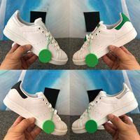 Neueste Stan Smith Männer Casual Schuhe Irisierend Weiß Grün Rosa üppig Rot Metallic Silver Mode Herren Frauen Sneakers Trainer US 5-11